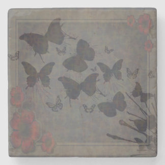 Vacant Butterfly Stone Coaster