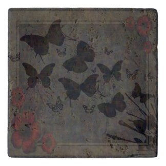Vacant Butterfly Travertine Trivet