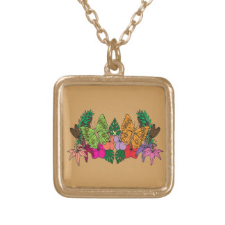 Vacation 2 gold plated necklace