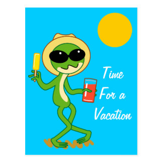 Vacation Frog Postcard