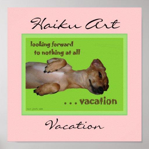 Vacation Haiku Art Print