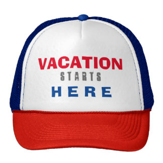 vacation hat red white blue