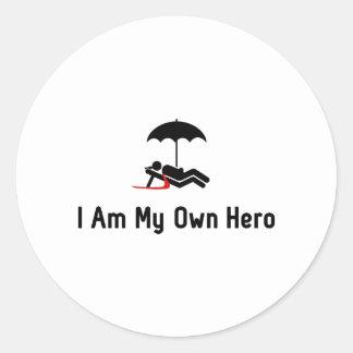 Vacation Hero Round Sticker