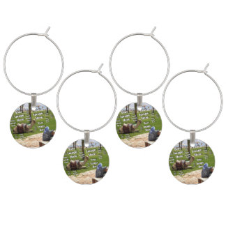 Vacation Image Template Wine Charm