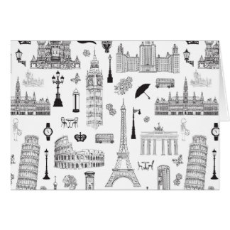 Vacation In Europe Pattern Card