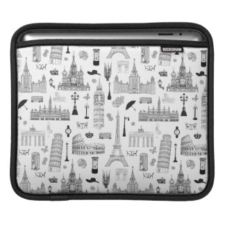 Vacation In Europe Pattern iPad Sleeve