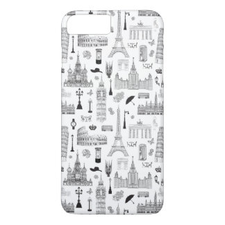 Vacation In Europe Pattern iPhone 8 Plus/7 Plus Case