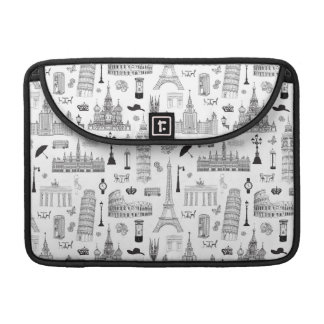 Vacation In Europe Pattern Sleeve For MacBook Pro