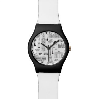 Vacation In Europe Pattern Watch