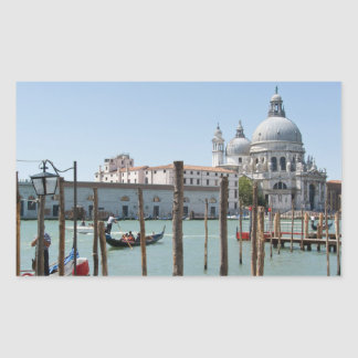 Vacation in Venice landscape rectangular sticker