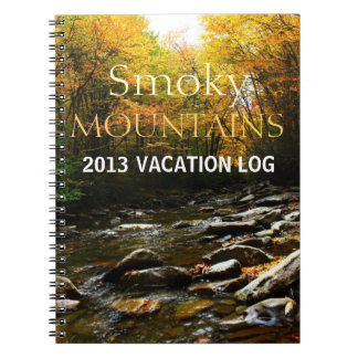 Vacation Log Book - Smoky Mountain Autumn Spiral Note Book