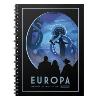 Vacation on Europa - Icy Moon of Jupiter Notebooks