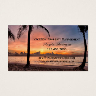 Vacation Property Management Business Card