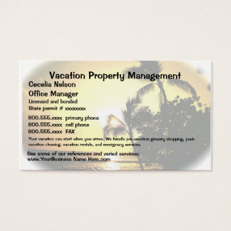 Vacation Real Estate or Property Management Business Card