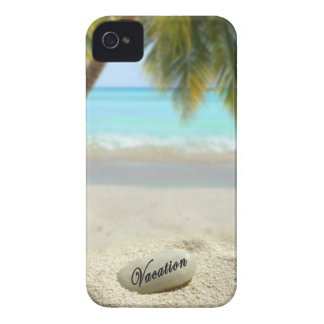 Vacation stone on beach iPhone 4 Case-Mate case