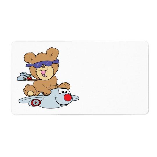 vacation teddy bear in plane