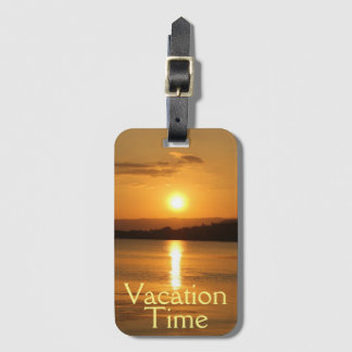 Vacation Time Luggage Tag