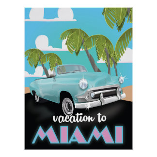 Vacation to Miami Travel poster