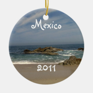 Vacation View; Mexico Souvenir Ceramic Ornament