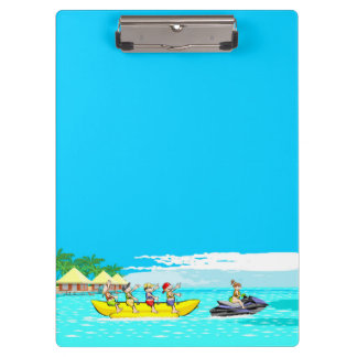 Vacations in the beach clipboard