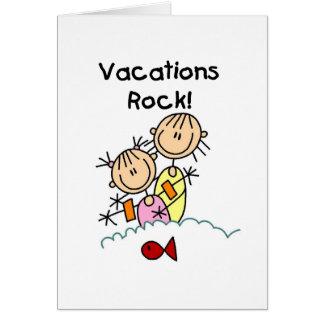 Vacations Rock Card