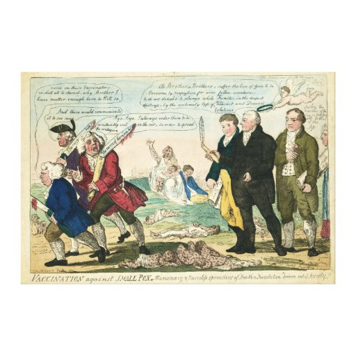Vaccination Against Smallpox Political Cartoon Gallery Wrap Canvas