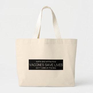 Vaccines Save Lives - Pro-Vax - Pro-Vaccine Jumbo Tote Bag