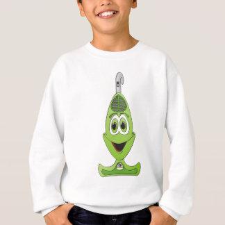 Vacuum Cartoon Green Sweatshirt