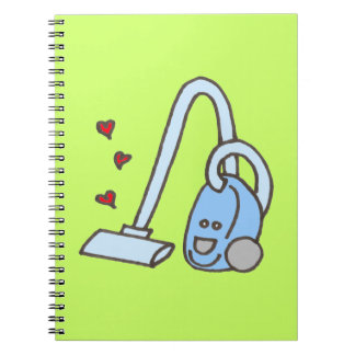 Vacuum Cleaner with Hearts Note Book