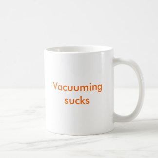 Vacuuming sucks basic white mug