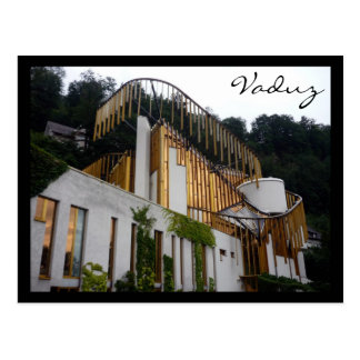 vaduz arts center postcard