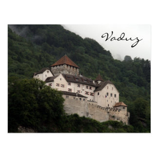 vaduz castle slope postcard