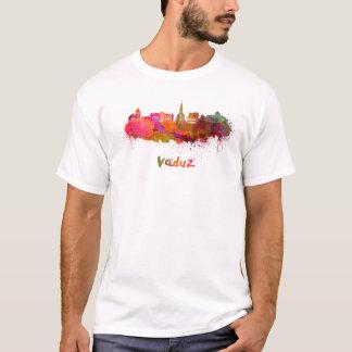 Vaduz skyline in watercolor T-Shirt