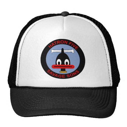 VAH-5 Heavy Attack Squadron HATRON Savage Sons Hats