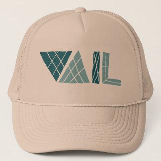 vail colorado crosshatch font trucker hat