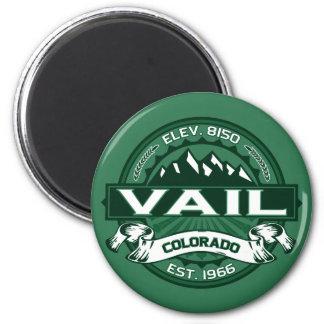 "Vail ""Colorado Green"" Logo 6 Cm Round Magnet"