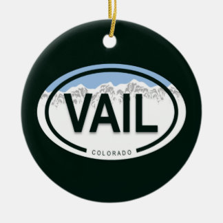 Vail Colorado Mountain Tag Ornament