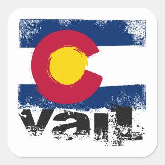 Vail Grunge Flag Square Sticker