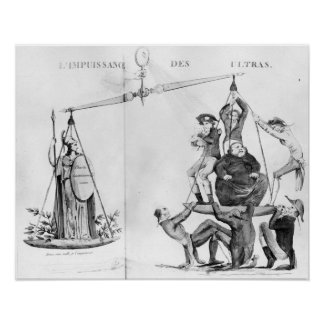 Vain efforts of the Ultras, 1819 Poster