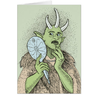 Vain Ogre with Hand Mirror Card