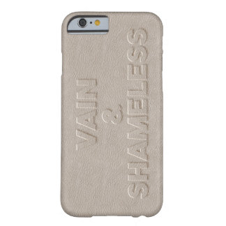 Vain & Shameless white leather pressed Barely There iPhone 6 Case