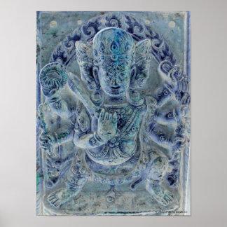 Vajrapani Blue Poster