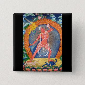 Vajrayogini Dakini Tibetan 15 Cm Square Badge