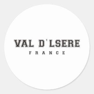 Val dlsere France Classic Round Sticker