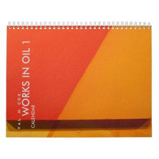 VAL M COX CALENDAR-WORKS IN OIL 1-U.S. edition Calendars