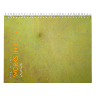 VAL M COX CALENDAR - WORKS IN OIL 2 - U.S. Edition