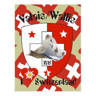 Valais Suisse/Valais Switzerland postcard