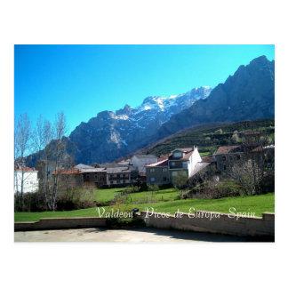 Valdeon - Picos de Europa- postcard