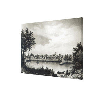 Valdivia, from 'The History of Chile'engraved Canvas Prints