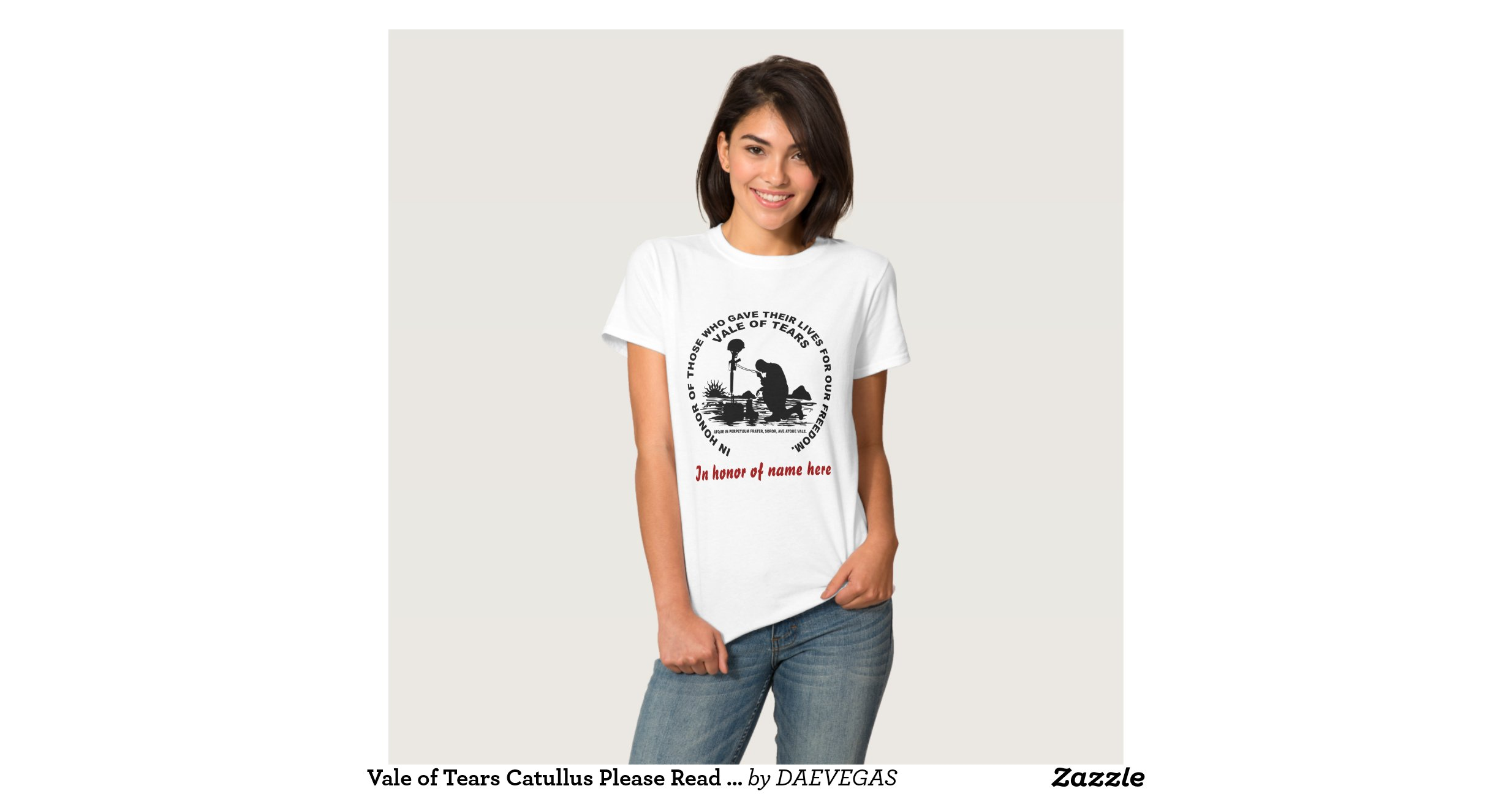 Vale Of Tears Catullus Please Read About Design Tee Shirt